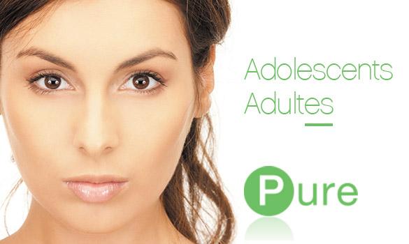 Des soins cosmétiques pour les imperfections des peaux adultes