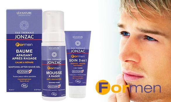 Formen, une nouvelle gamme de soins à l'eau thermale pour homme