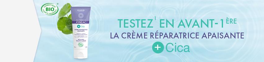 Testez la nouvelle crème réparatrice apaisante +Cica
