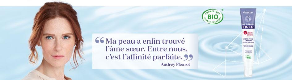 Audrey Fleurot, la cosmétique bio thermale